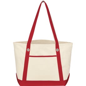 Customized Medium Cotton Canvas Sailing Tote