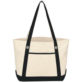 Medium Cotton Canvas Sailing Tote for your School