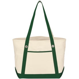 Medium Cotton Canvas Sailing Tote for Your Organization