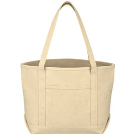 Medium Cotton Canvas Yacht Tote with Your Logo