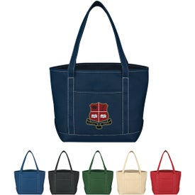 Medium Cotton Canvas Yacht Tote Bag