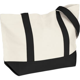 Medium Snap Tote Bag with Your Slogan