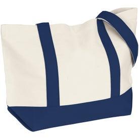 Advertising Medium Snap Tote Bag