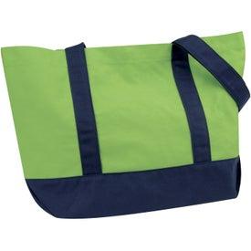 Printed Medium Snap Tote Bag