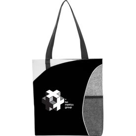 Mesh Pocket Non-Woven Convention Tote Bag