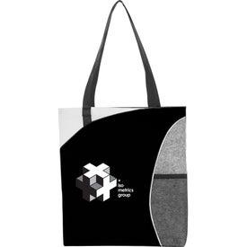 Mesh Pocket Non-Woven Convention Tote Bag