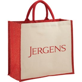 Metallic Jute and Cotton Shopper Tote Bag