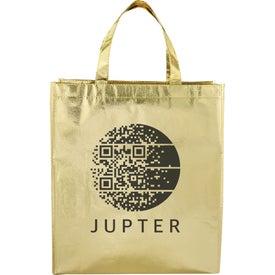 Metallic Laminated Shopper Tote Bag