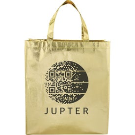 Metallic Laminated Shopper Tote Bag