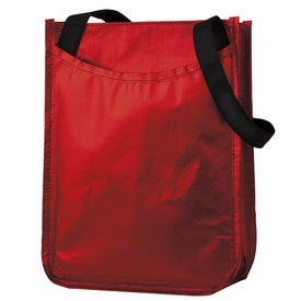 Metallic Non-Woven Gift Tote Printed with Your Logo