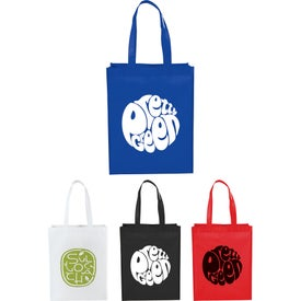 Mid-Size Laminated Shopper Tote Bags