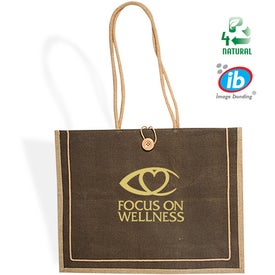 Milan Jute Tote Branded with Your Logo