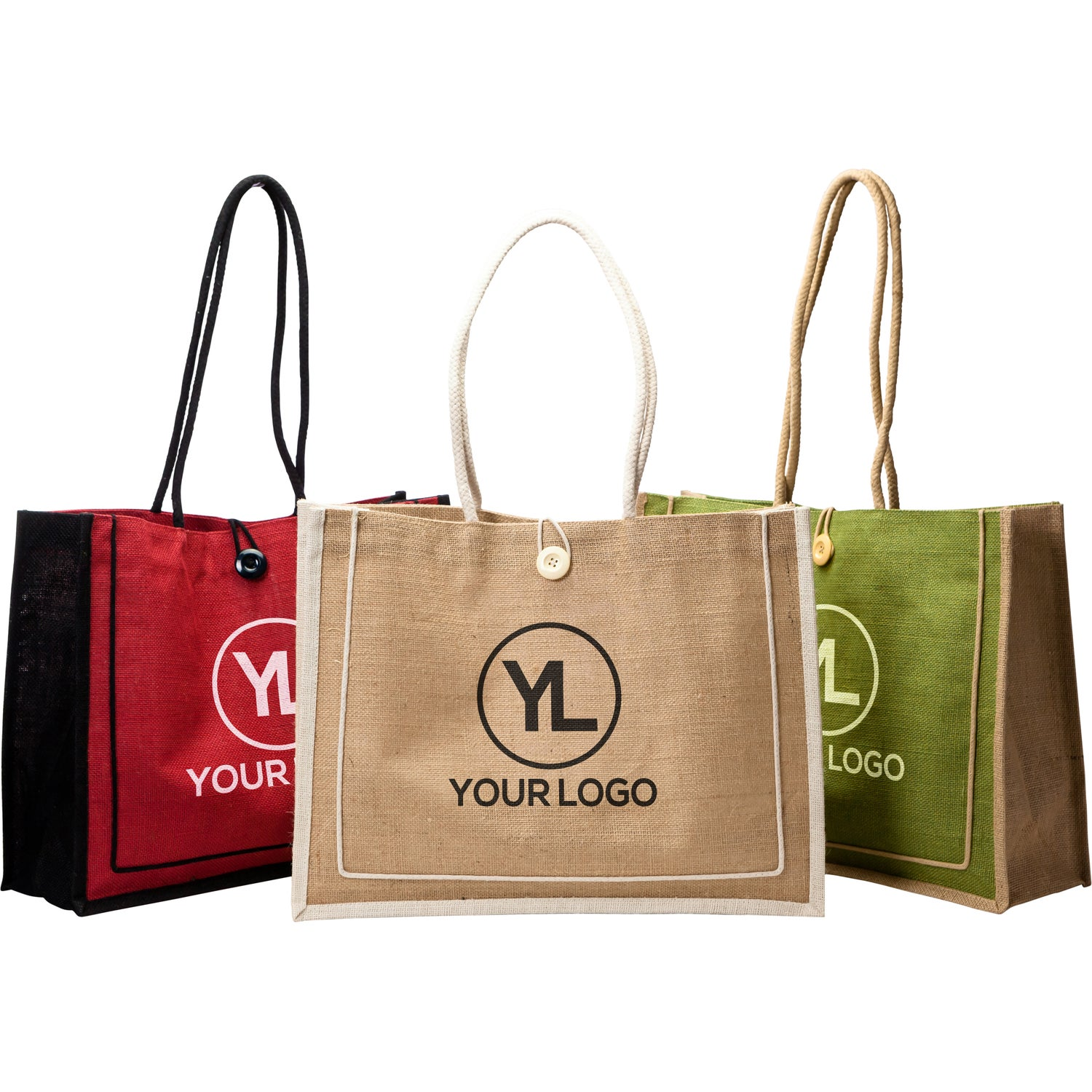 86f7b8a1c1d Promotional Milan Jute Totes with Custom Logo for  3.68 Ea.