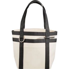 Mini Rugby Stripe Boat Tote Branded with Your Logo