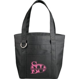 Mini Rugby Stripe Boat Tote with Your Slogan