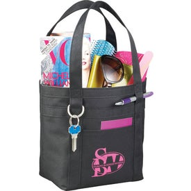 Mini Rugby Stripe Boat Tote for Your Organization
