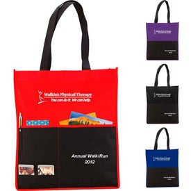 Personalized Multi Pocket Non-Woven Tote