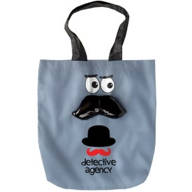Logo Mustache Convertible Tote Bag