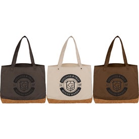 Napa Cotton and Cork Shopper Tote Bag