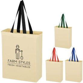 Natural Cotton Canvas Grocery Tote Bags