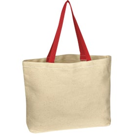 Natural Cotton Canvas Tote Bag Imprinted with Your Logo