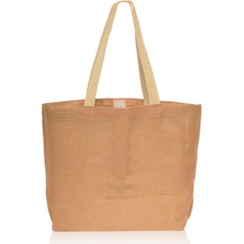 Natural Jute Fiber Carry-On Tote Bag