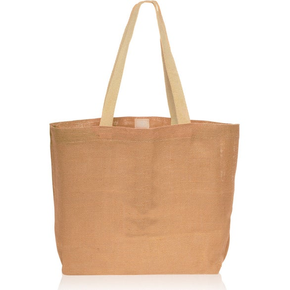 Natural Natural Jute Fiber Carry-On Tote Bag