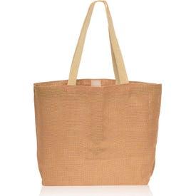 Natural Jute Fiber Carry-On Tote Bag