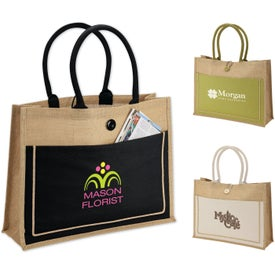 Camden Natural Jute Tote Bag