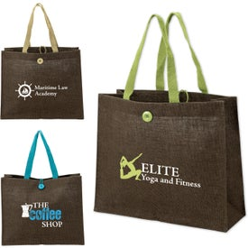 Natural Jute Fiber Tote Bag