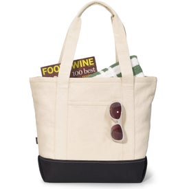 Promotional Newport Cotton Zippered Tote Bag