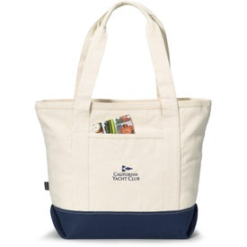 Logo Newport Cotton Zippered Tote Bag