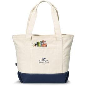 Logo Newport Cotton Zippered Tote Bag