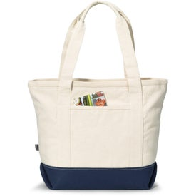 Customized Newport Cotton Zippered Tote Bag
