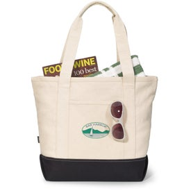 Branded Newport Cotton Zippered Tote Bag