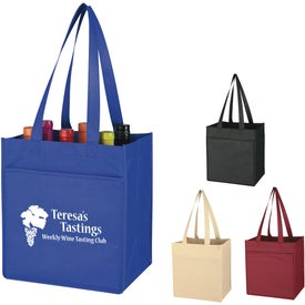 Non-Woven 6 Bottle Wine Tote Bag