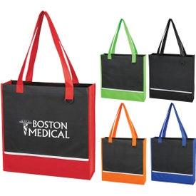 Non Woven Accent Shopper Tote Bag