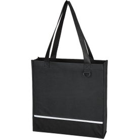 Non Woven Accent Shopper Tote Bag