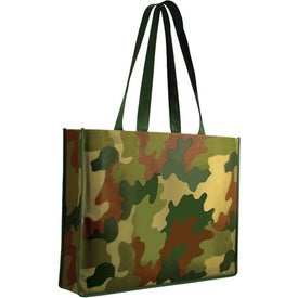 Non Woven Camo Tote Bag with Your Logo