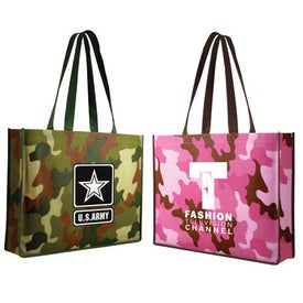 Non Woven Camo Tote Bag (Screen Print)