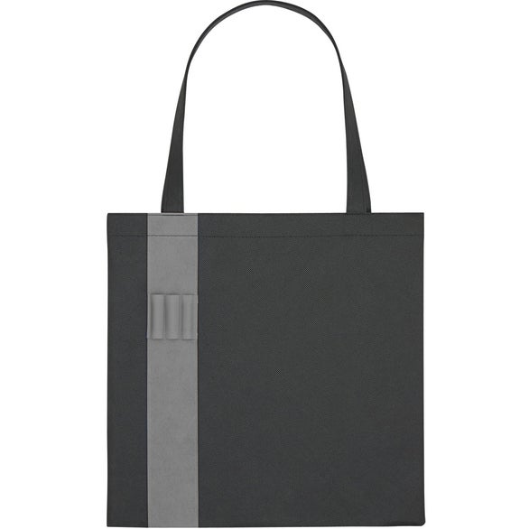 Black / Gray Non-Woven Colony Tote Bag