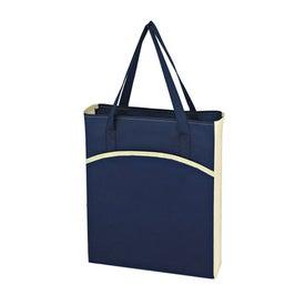 Branded Non Woven Crescent Tote Bag