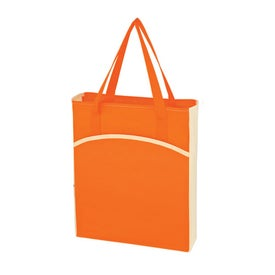 Non Woven Crescent Tote Bag Giveaways