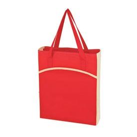 Monogrammed Non Woven Crescent Tote Bag