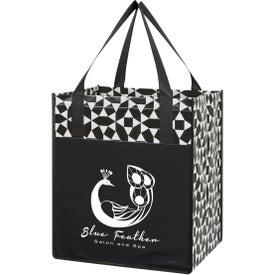 Non-Woven Geometric Shopping Tote Bag