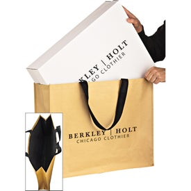 Non-Woven Hybrid Tote Bag with Paper Exterior