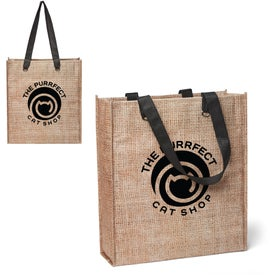 Non-Woven Jute Look Tote Bags