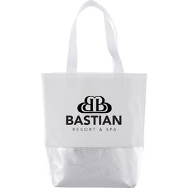Non-Woven Mini Metallic Bottom Laminated Tote Bags