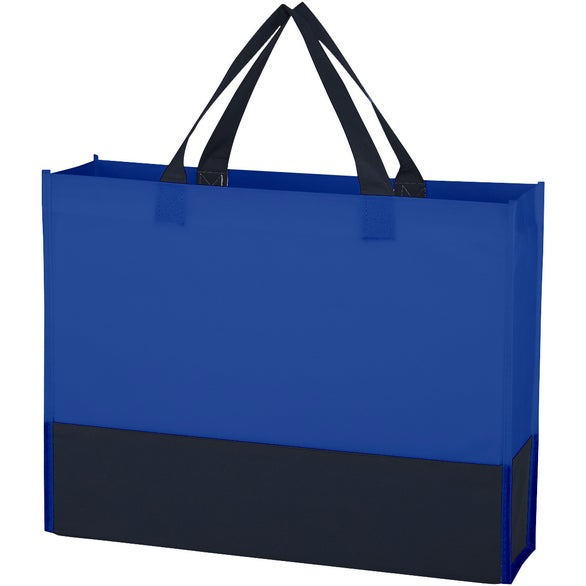 Royal Blue / Black Non-Woven Raven Prism Tote Bag