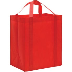 Non-Woven Reusable Grocery Tote Imprinted with Your Logo
